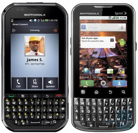 The Motorola Titanium (L) and the Motorola XPRT (R) are both heading to Sprint - Sprint gets a pair of Motorola Android devices, the XPRT and the Titanium