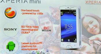 The Sony Ericsson Xperia Mini (L) and the Sony Ericsson Xperia Mini Pro (R) have been introduced by the joint venture