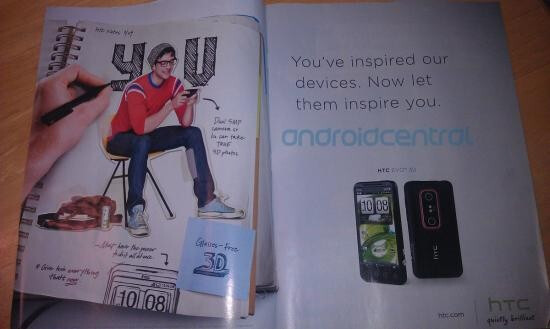 The HTC EVO 3D has been spotted in two magazines, EW and ESPN The Magazine - ESPN The Magazine, EW have ads for the HTC EVO 3D