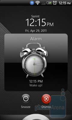 The music app controls and the alarm snooze/dismiss button will both work when you install the HTC Sense 3.0 lockscreen on the HTC EVO 4G - Put the Sense 3.0 lockscreen on your HTC EVO 4G