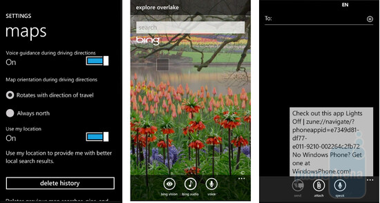 The upcoming Mango update for Windows Phone 7 will include some services from Bing - Mango update for Windows Phone 7 to include Bing Audio/Vision and Turn-by-turn directions