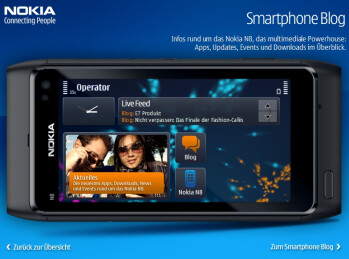 Mock Symbian homescreens tease what could be the PR 3.0 updated interface