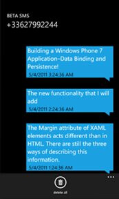Beta SMS 2.0 for WP7 allows you to send international messages for cheap or free