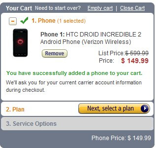 New customers can pick up the HTC Droid Incredible 2 for $79.99 through Amazon