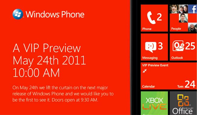 Microsoft is holding an event in NYC on May 24th to unveil the next major release of WP7