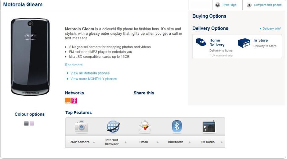 Motorola Gleam brings back old-school flip phone love to Carphone Warehouse