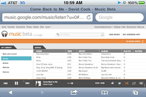 Google Music works on iOS thanks to its web-based player