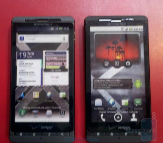 The dummy units of the Motorola DROID X2 (L) have arrived at Costco signaling that the launch should be soon  - Dummy Motorola DROID X2 units appear at Costco