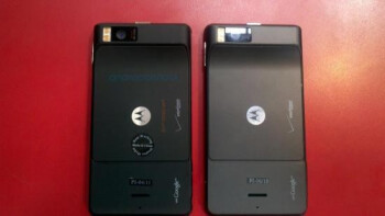The Motorola DROID X2 is on left with the first-gen version on the right