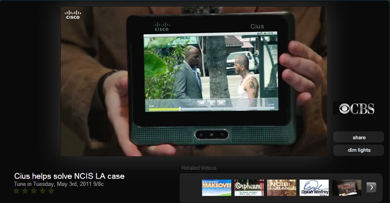 The Cisco Cius tablet helps solve a case in an episode of NCIS Los Angeles - AT&T and Cisco partner to bring the 4G Cius Android tablet to corporate users
