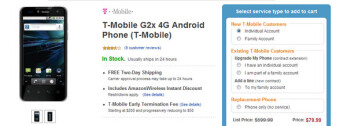 T-Mobile G2x is priced even more attractively at $79.99 on-contract courtesy of Amazon