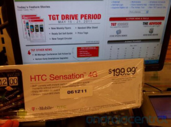 Target will offer the HTC Sensation 4G for $199