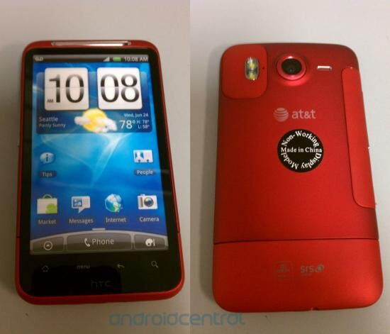 This red dummy model of the HTC Inspire 4G means that this variant of the smartphone should soon launch at Radio Shack - HTC Inspire 4G is well red at Radio Shack