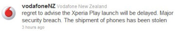 Thieves steal Sony Ericsson Xperia PLAY New Zealand shipment?