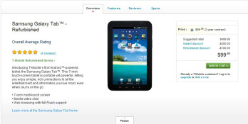 T-Mobile is selling refurbished Samsung Galaxy Tab units for $100 on-contract