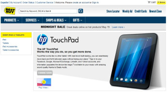"HP TouchPad is being teased as ""coming soon"" on Best Buy's web site"