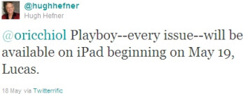 iPad Playboy web app goes live; offers every page of every issue for $86 per year