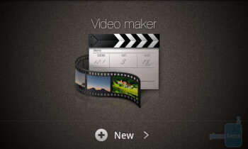 Video maker app on the Samsung Galaxy S II