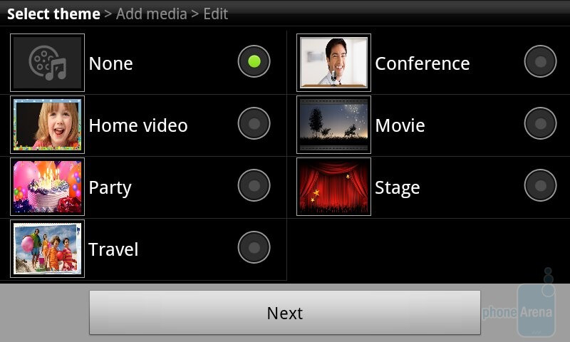 Samsung Galaxy S II Photo editor and Video maker apps review