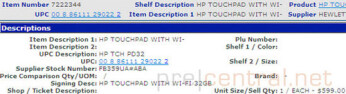 HP TouchPad shows up in Walmart's database; $599 for the 32GB model