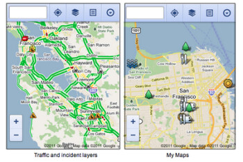 Google Maps updated for mobile browser use