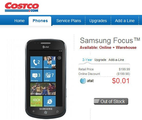 Samsung Focus appears to be putting on a disappearing act at various stores?