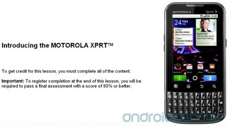 Sprint employees are training to become an expert on the Motorola XPRT - Sprint employees get trained to become experts on the Motorola XPRT