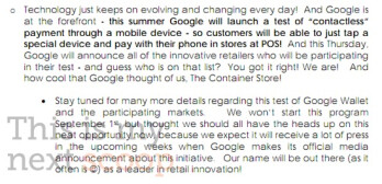 Google Wallet mobile payment platform to be announced today