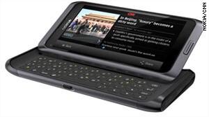 Nokia E7 running the official CNN app
