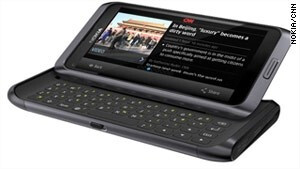 Nokia E7 running the official CNN app - Nokia announces partnership with CNN, mapping services and apps in tow