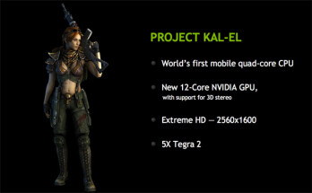 NVIDIA demos quad-core Kal-El for tablets on video