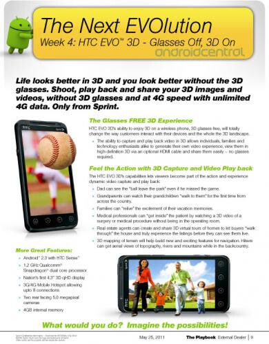 Sprint to launch HTC EVO 3D in the fourth week of next month?
