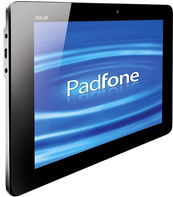 The Asus PadFone shell sports a dedicated compartment for inserting a handset to make a tablet - Asus PadFone concept tablet/smartphone combo gets official press shots and an announcement
