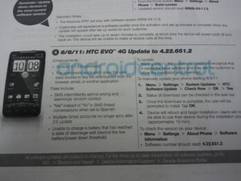 According to this memo, the HTC EVO 4G will get upgraded to Android 2.3 on Friday