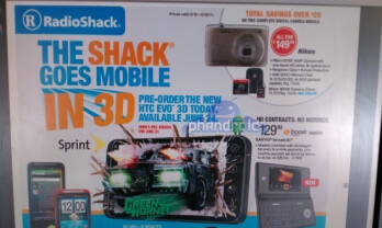 This flyer says in plain English that Radio shack will launch the HTC EVO 3D on June 24th