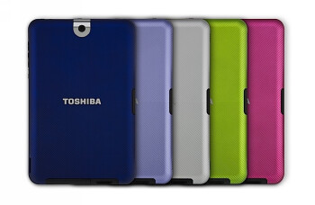 Toshiba Thrive sports a variety of back covers