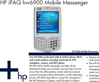 More details about the HP iPAQ hw6900 revealed