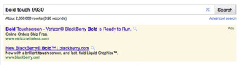This Google ad reveals that the BlackBerry Bold 9930 is coming to Verizon