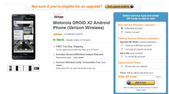 Until June 8th, new Verizon customers can pick up a Motorola DROID X2 for just $99.99 with a 2 year contract from Amazon