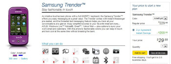 Samsung Trender quietly appears on Sprint's lineup for $29.99 on-contract