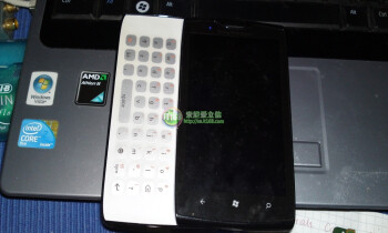 Sony Ericsson WP7 handset with a physical QWERTY keyboard