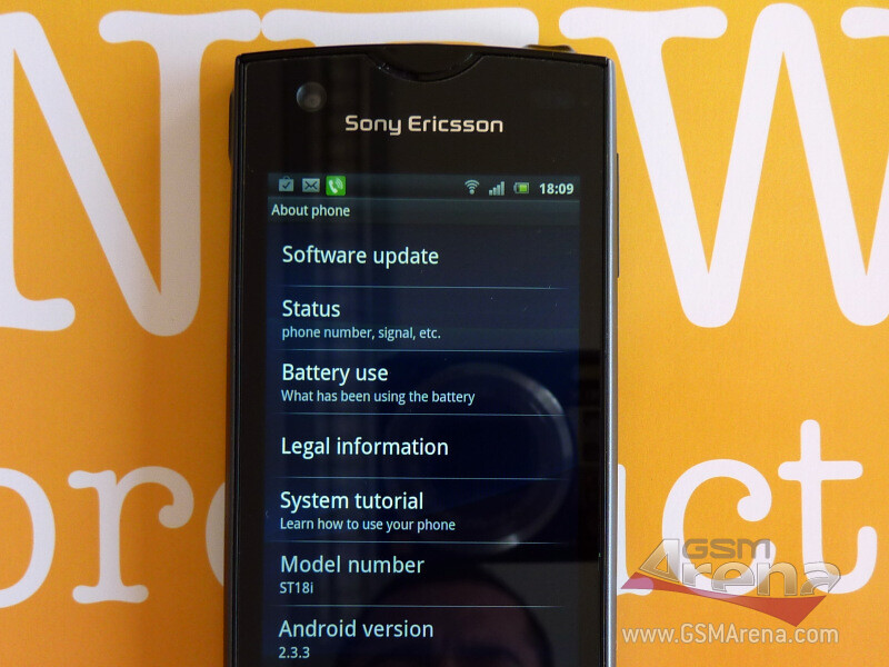 New eye candy of the Sony Ericsson ST18i Android phone ...
