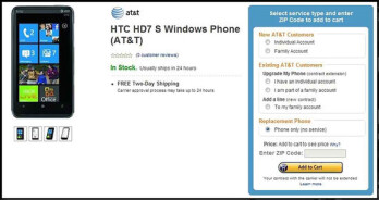 Amazon prices the HTC HD7S much more fittingly at $100 on-contract