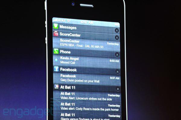 iOS 5 Notification Center - Apple announces iOS 5, a major release