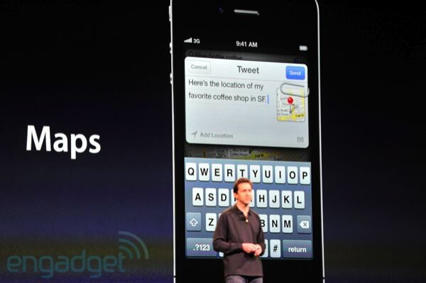 Twitter integration in iOS 5 - Apple announces iOS 5, a major release