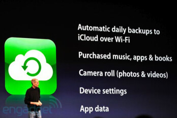 iCloud introduced by Steve Jobs
