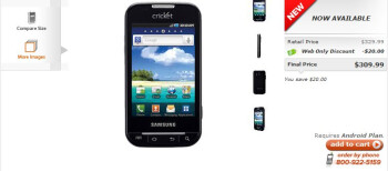 Cricket Wireless is now selling their version of the Samsung Indulge for $309.99