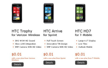 Select Windows Phone 7 handsets are selling for a penny through the Microsoft Store