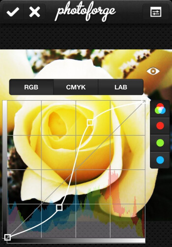 PhotoForge2 has a broad selection of tools and filters that can modify photos with a few taps