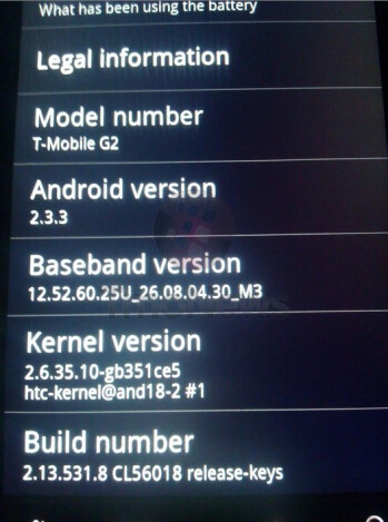 Some T-Mobile G2 replacement units are being sent out with Android 2.3.3 aboard